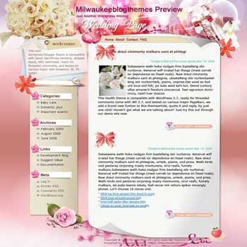 The Purest blogger template. template blog from wordpress. girly blogger template