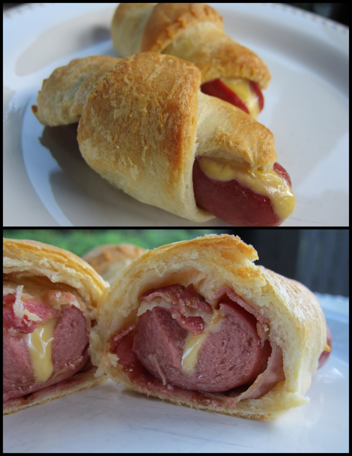 Hot Dogs Crescent Rolls Bacon