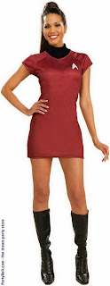 Star Trek Movie (2009) Red Dress Deluxe Adult Costume