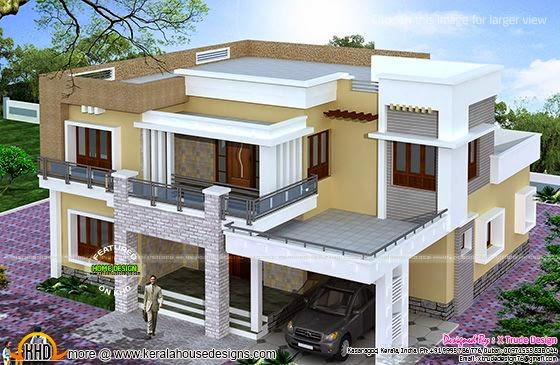 Different views of 2800 sq ft modern home