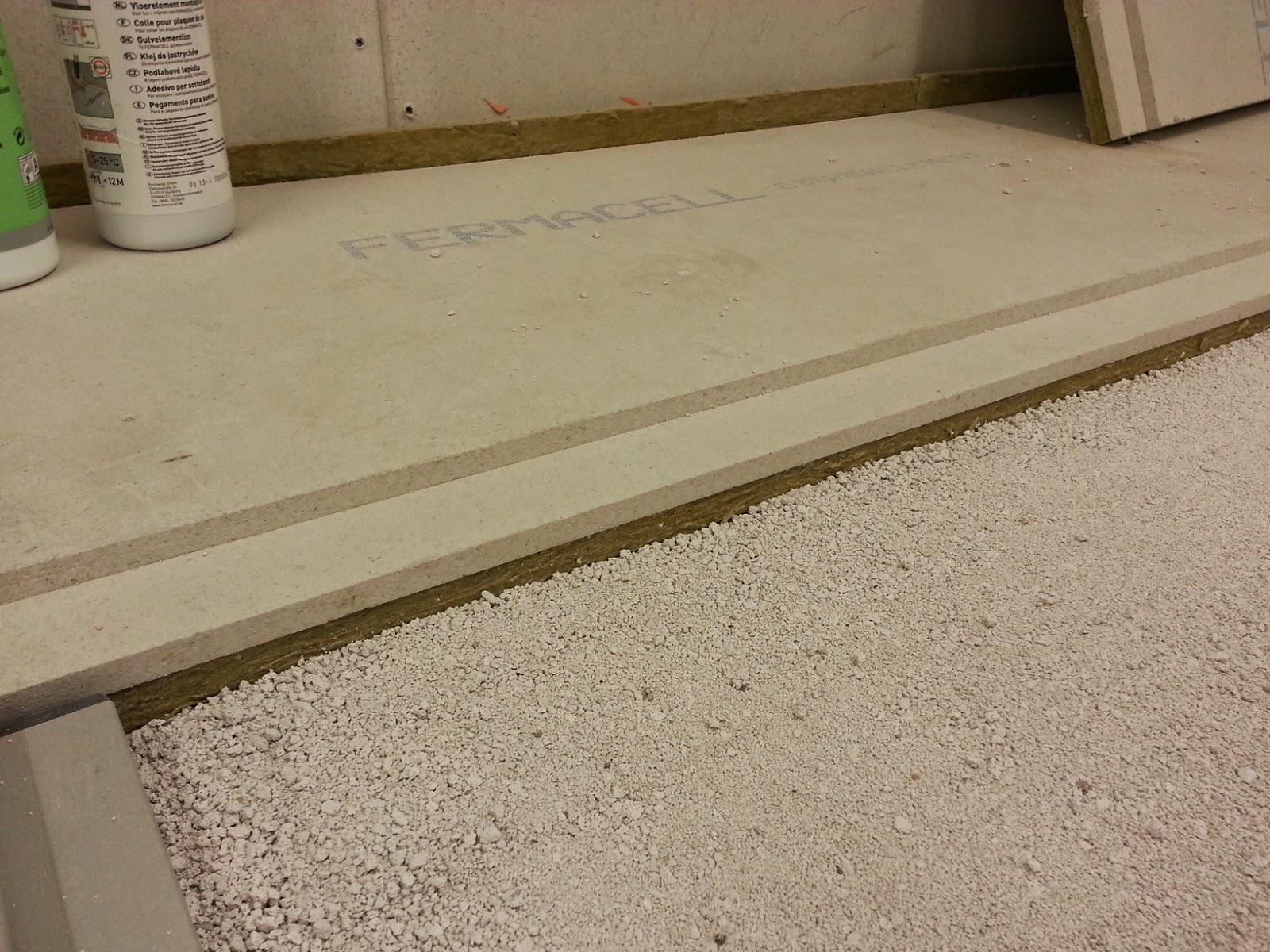 Przykładowy suchy jastrych wraz z warstwą wibroizolacji na podkładzie wyrównującym