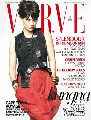 Bollywood Actress Kangna Ranaut Hot Photo Shoot for Verve Magazine- April 2012 Issue