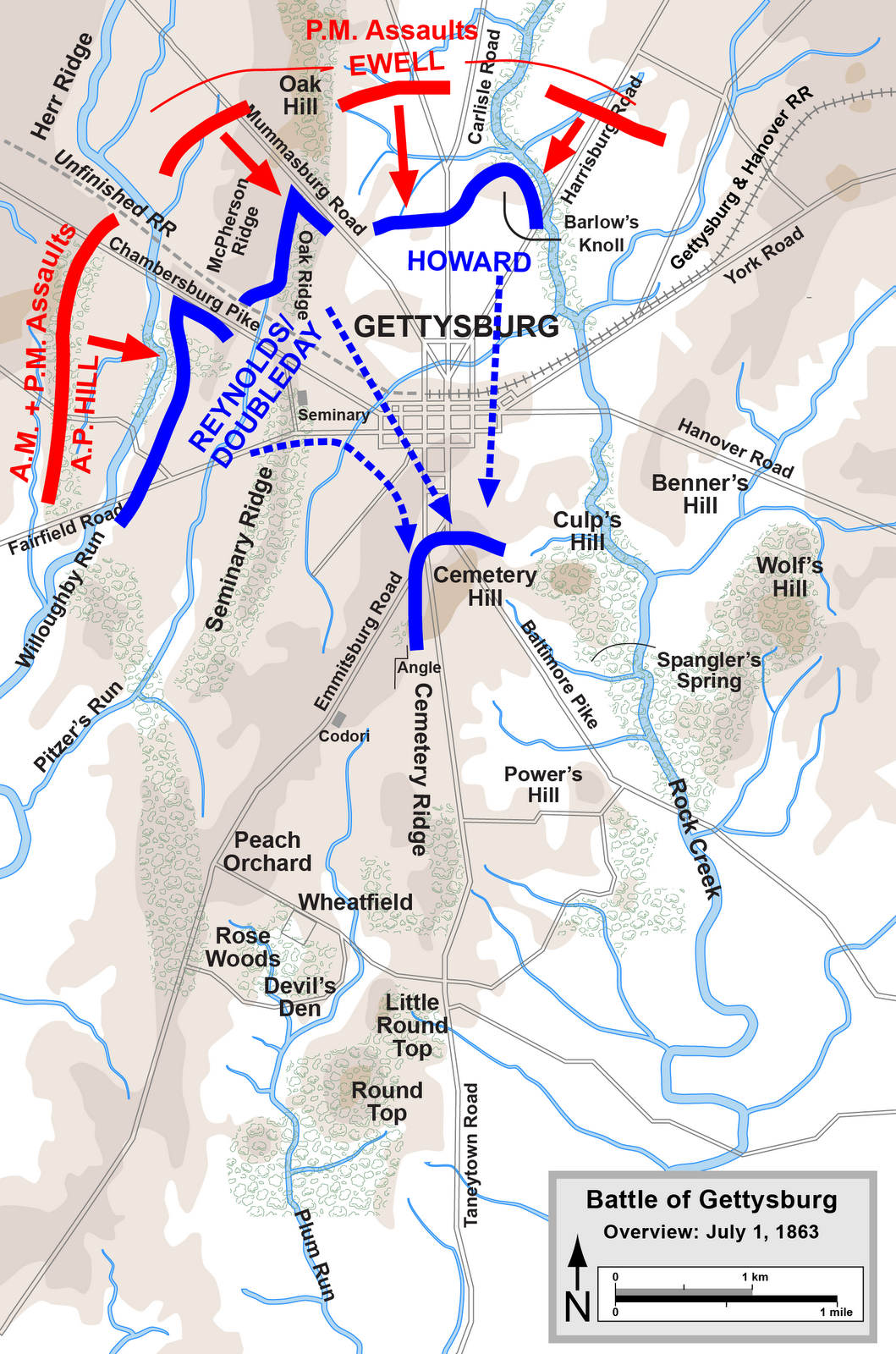 confederate captives at gettysburg