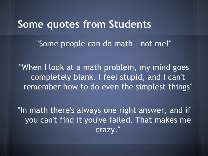 "math anxiety How to overcome math anxiety ""do not worry about your difficulties in  mathematics i assure you that mine are greater"" -albert einstein the video high  anxiety."