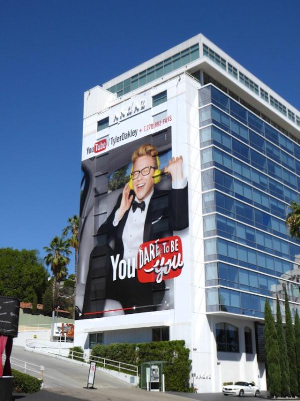 Giant YouTube Tyler Oakley billboard