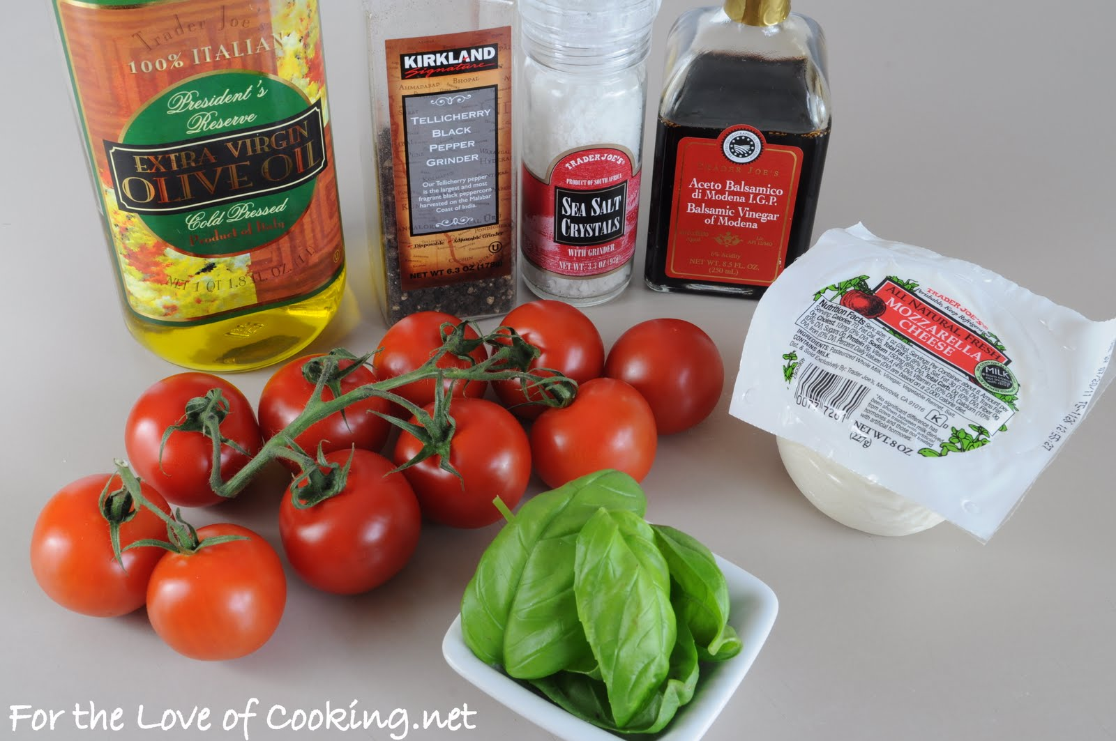 Roasted Tomato Caprese Salad | For the Love of Cooking