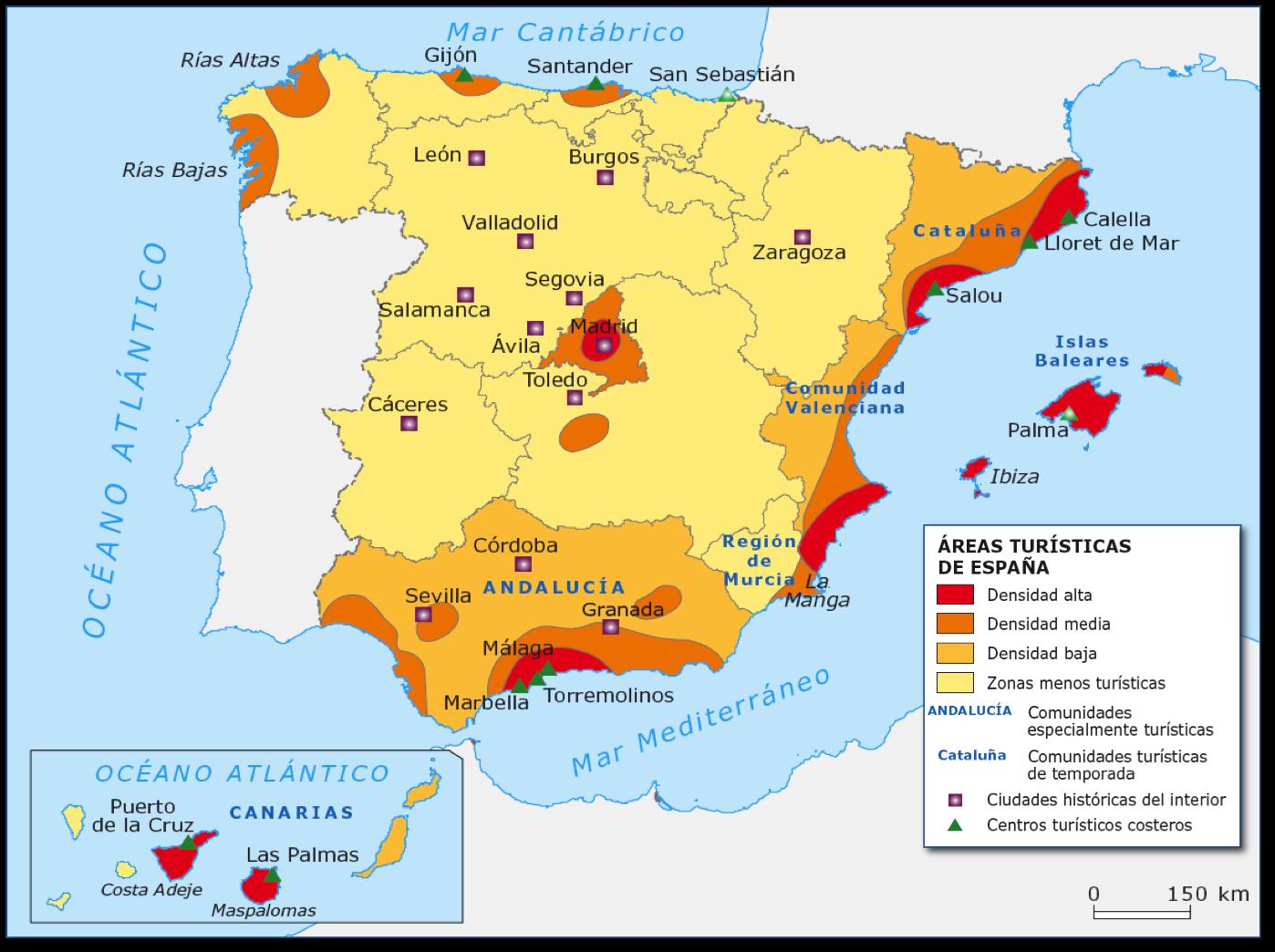 Clase de Geografa Comentario mapa turismo