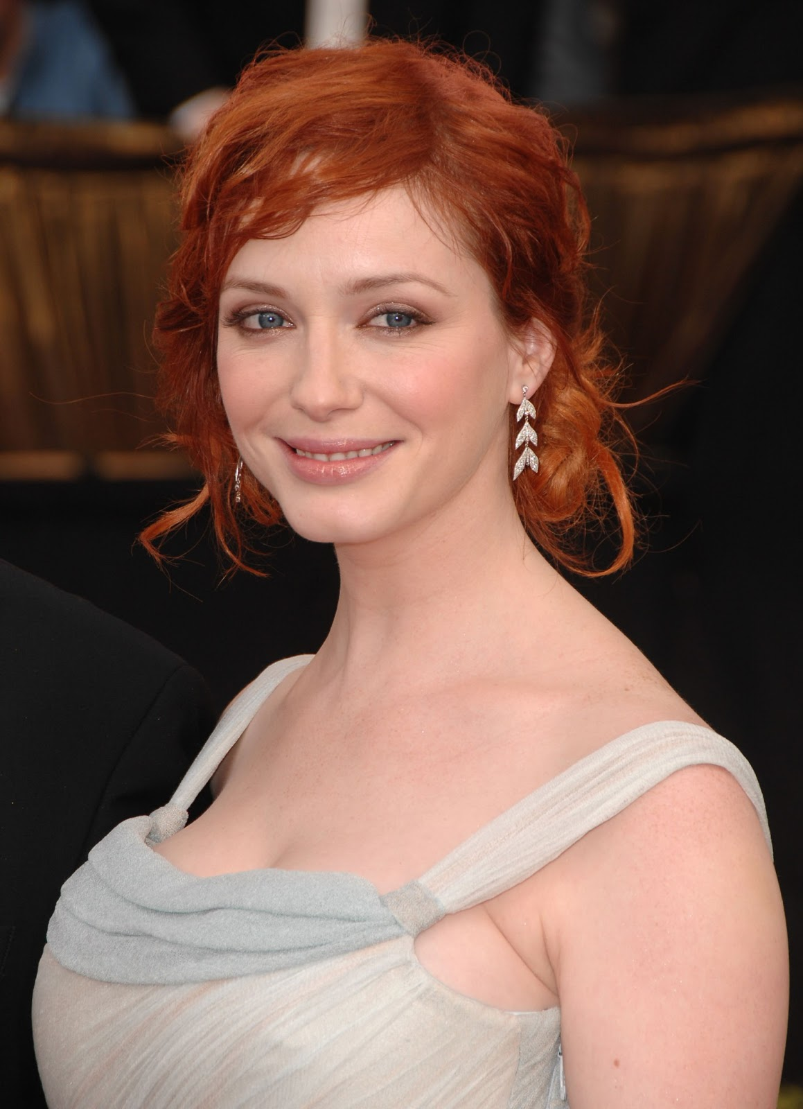 christina hendricks heavy chest the hottes. Black Bedroom Furniture Sets. Home Design Ideas