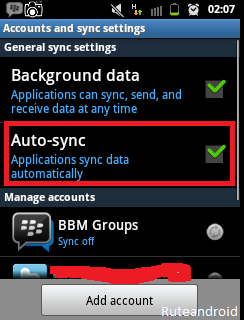Auto-sync android backup