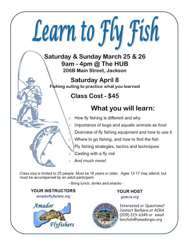 Learn to Fly Fish - Mar 25 & 26 and April 8