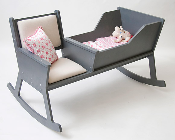 Baby Cradle + Rocking Chair= Happy Parent
