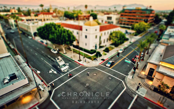 Fotografia Tilt and Shift de Ed McGowan