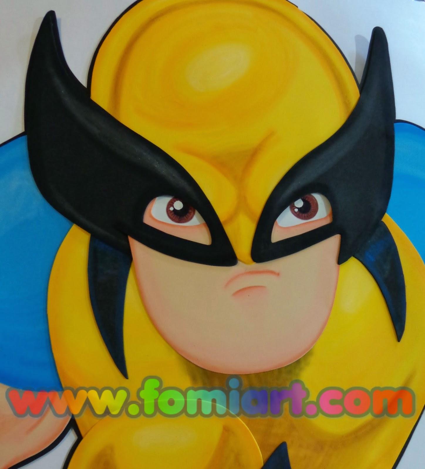 Wolverine manualidades en fomi
