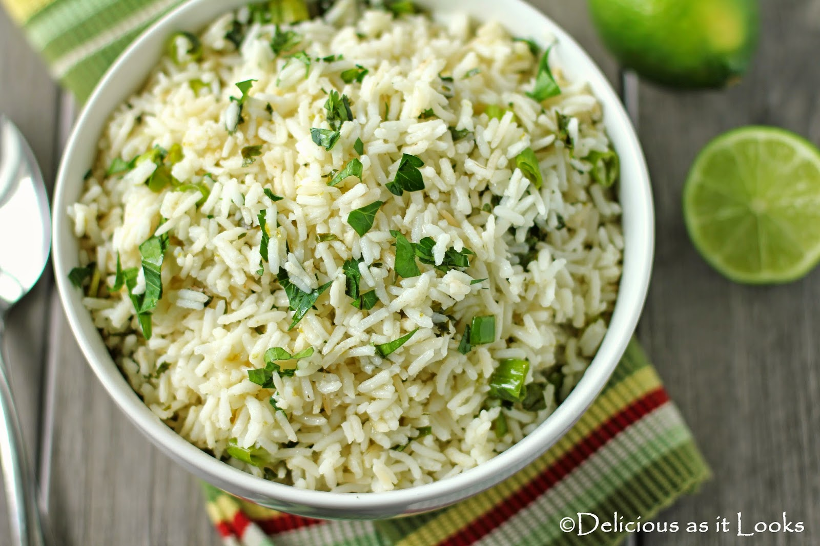 Cilantro Lime Rice {Low-FODMAP}  /  Delicious as it Looks