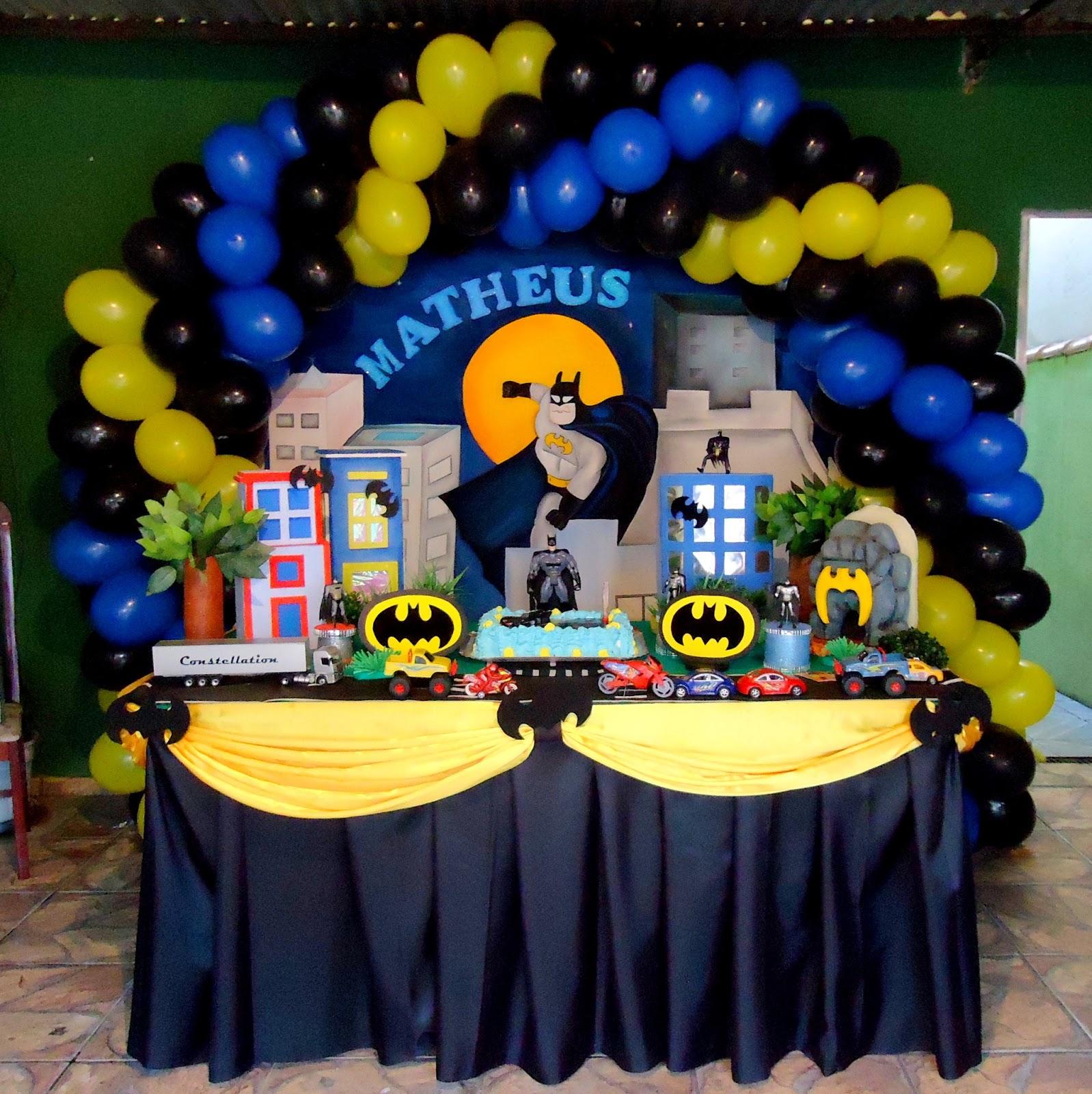 decoracao festa batman:Decoração Batman
