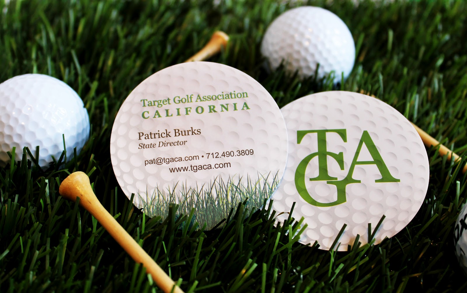 Tiffzippy. . . . just zipping through: Golf ball business cards