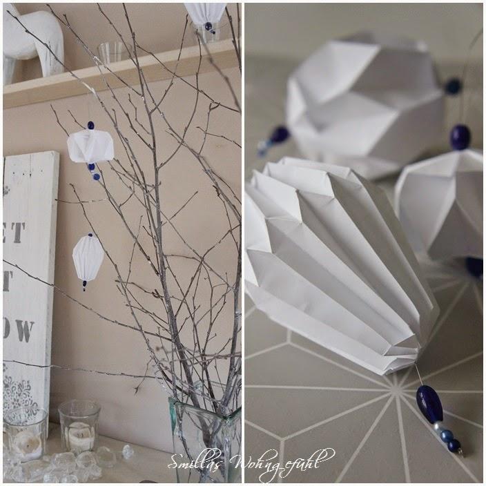 Smillas Wohngefühl: DIY: Origami/Plissee-Anhänger