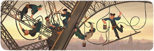 126th Anniversary of the public opening of the Eiffiel Tower