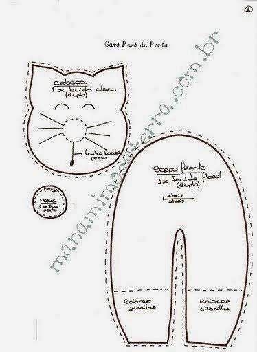 Peso para porta de gatinho
