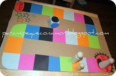 Para mi peque con amor: Juego de tablero: Recorrido de colores