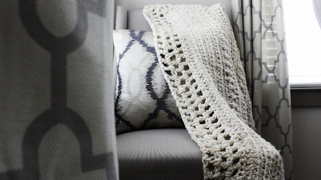 DIY // How To Crochet A Shawl/Blanket/Throw.
