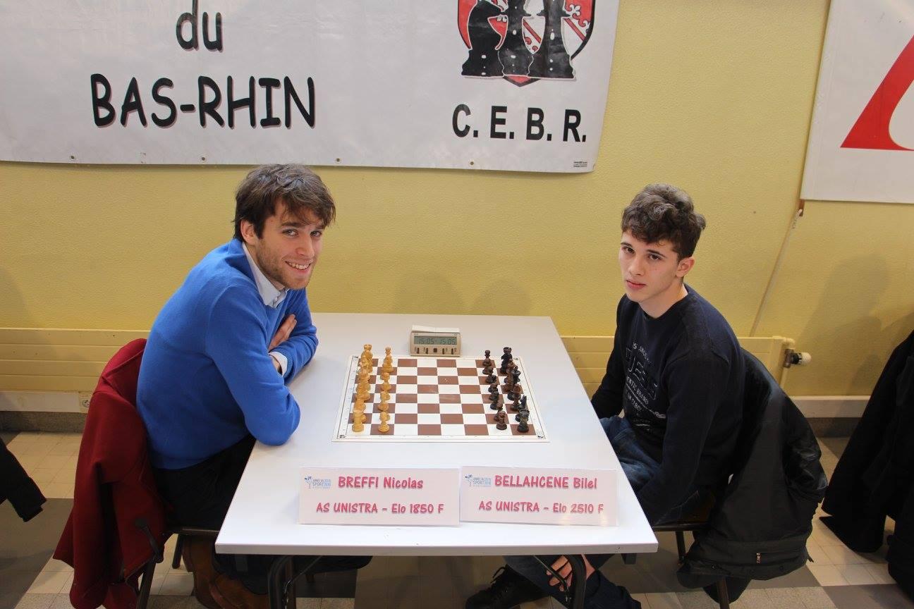 Le maître international d'échecs Bilel Bellahcene l'emporte avec la manière, puisqu'il ne concède qu'un seul match nul sur 9 parties © site officiel