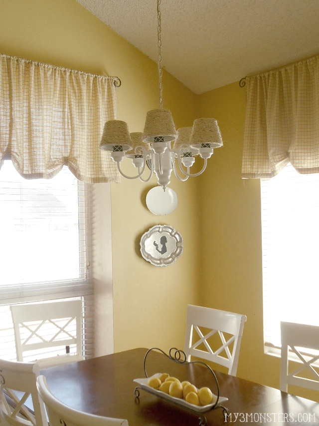 From builder-grade boring to beach cottage beautiful -- $9 DIY Chandelier Makeover at my3monsters.com