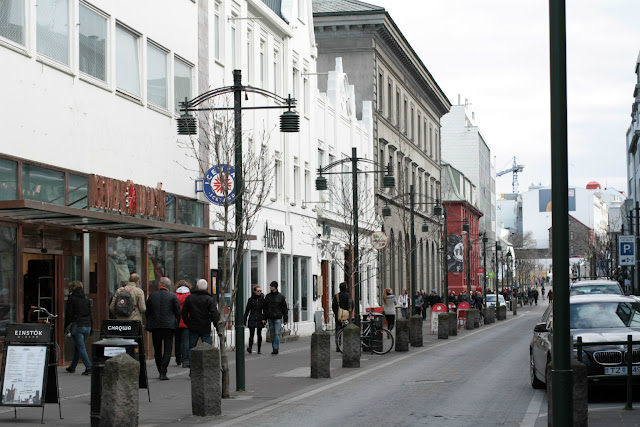 Austurstræti - right in the heart of Rekyjavik