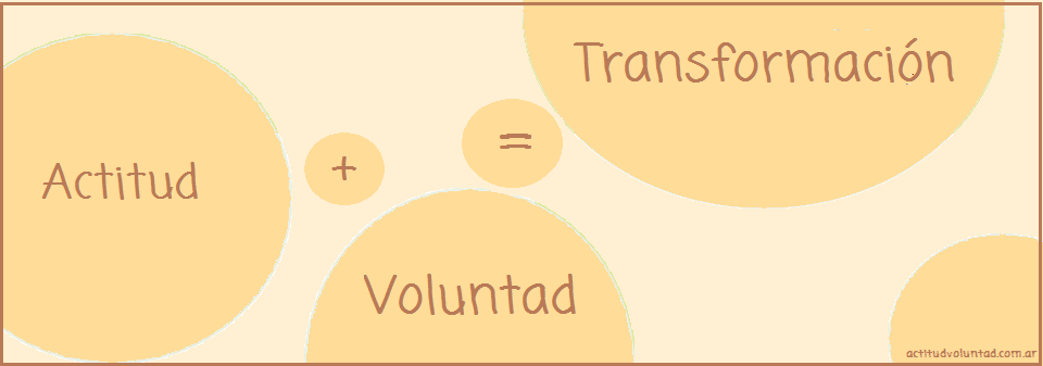 Actitud + Voluntad = Transformación