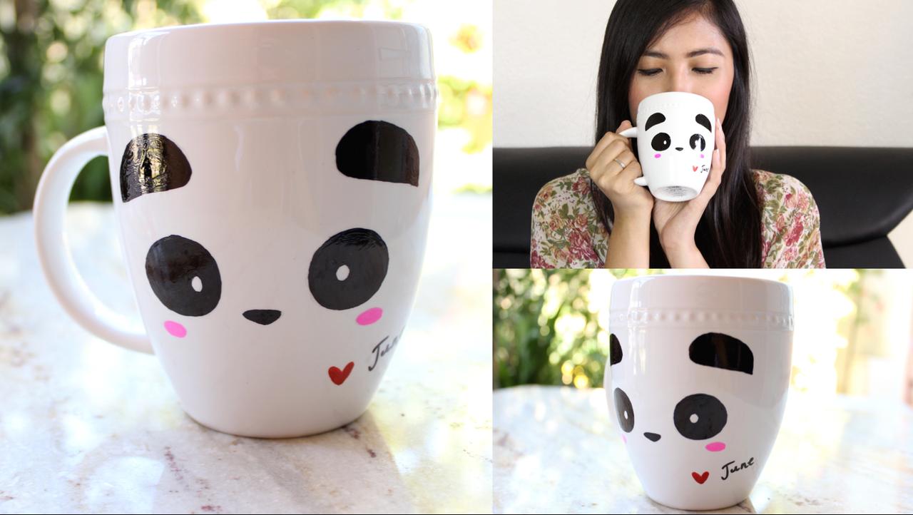 Diy panda mug room decor display or gift idea for Room decor gifts