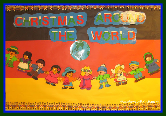 "photo of: ""Christmas Around the World"" Bulletin Board (From Christmas Bulletin Board RoundUP via RainbowsWithinReach)"