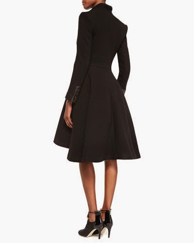 Alice Olivia Mary Arched-Hem Princess Coat