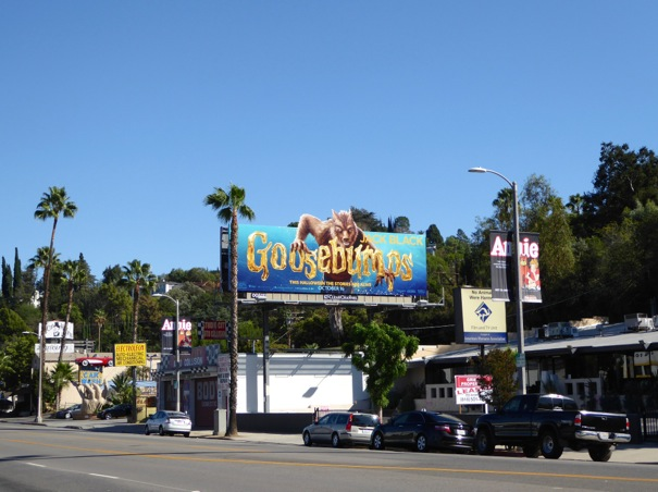 Goosebumps Wolfman billboard