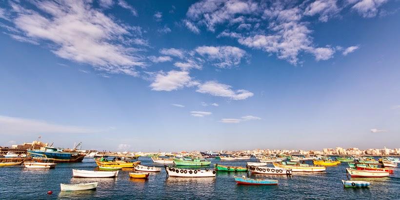 Földközi-tenger. Alexandria, Egyiptom.