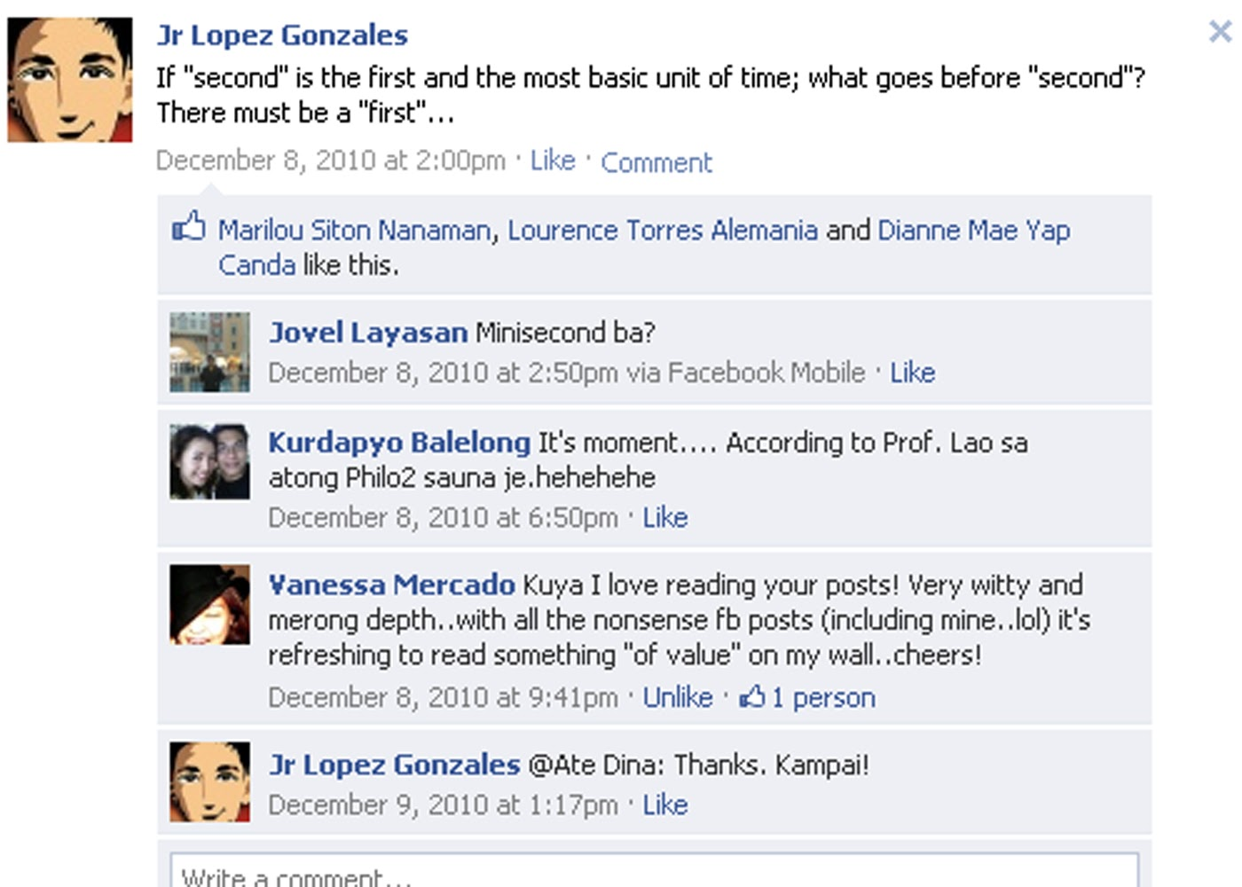 funny facebook wall posts of jr lopez gonzales part 5 funny facebook ...