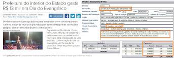 """Gazeta Online alardeia """"escândalo"""" três vezes menor que o ocorrido em Bom Jesus do Itabapoana"""