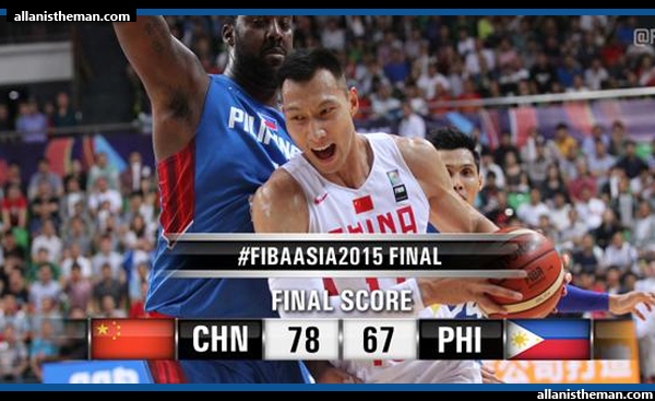 Gilas Pilipinas falls short to China, settles for 2015 FIBA Asia silver (VIDEO)