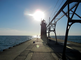 South Pierhead Lighthouse in South Haven, Michigan