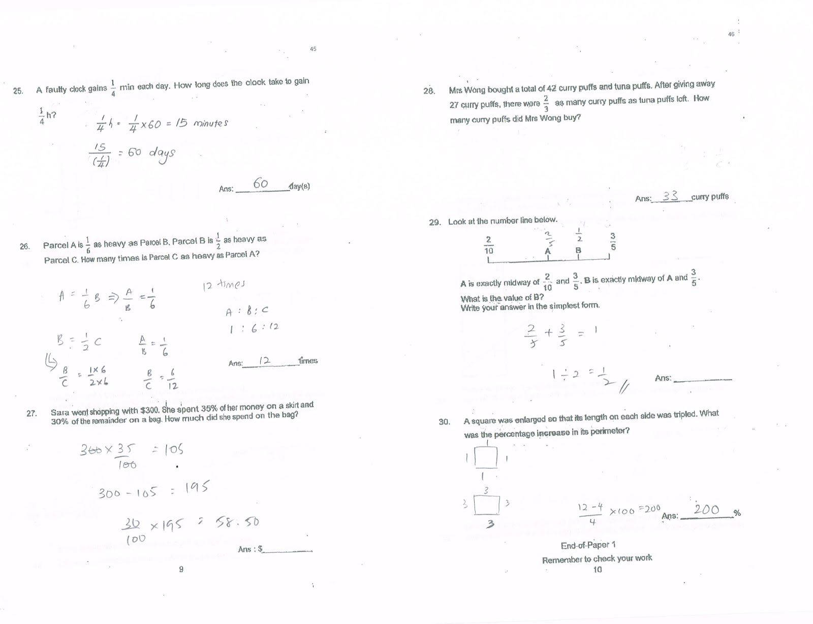 Math Questions For Primary School science math elementary quiz – P6 Maths Worksheets