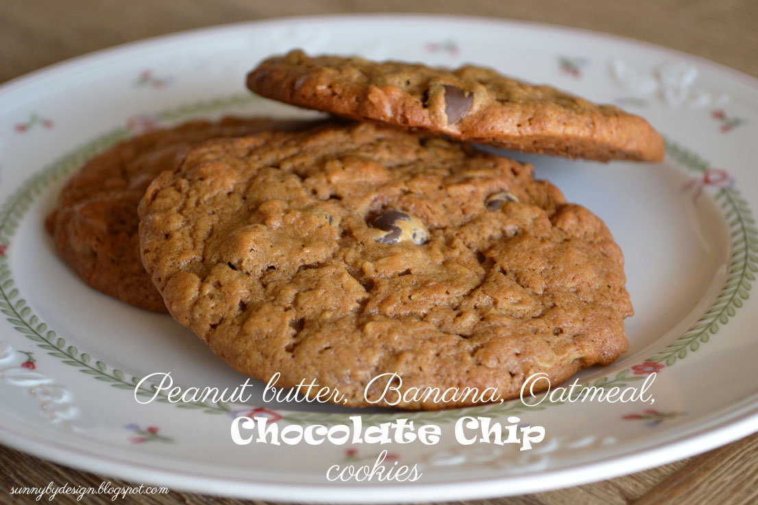 ... : Peanut Butter Banana Oatmeal Chocolate Chip (flourless) Cookies