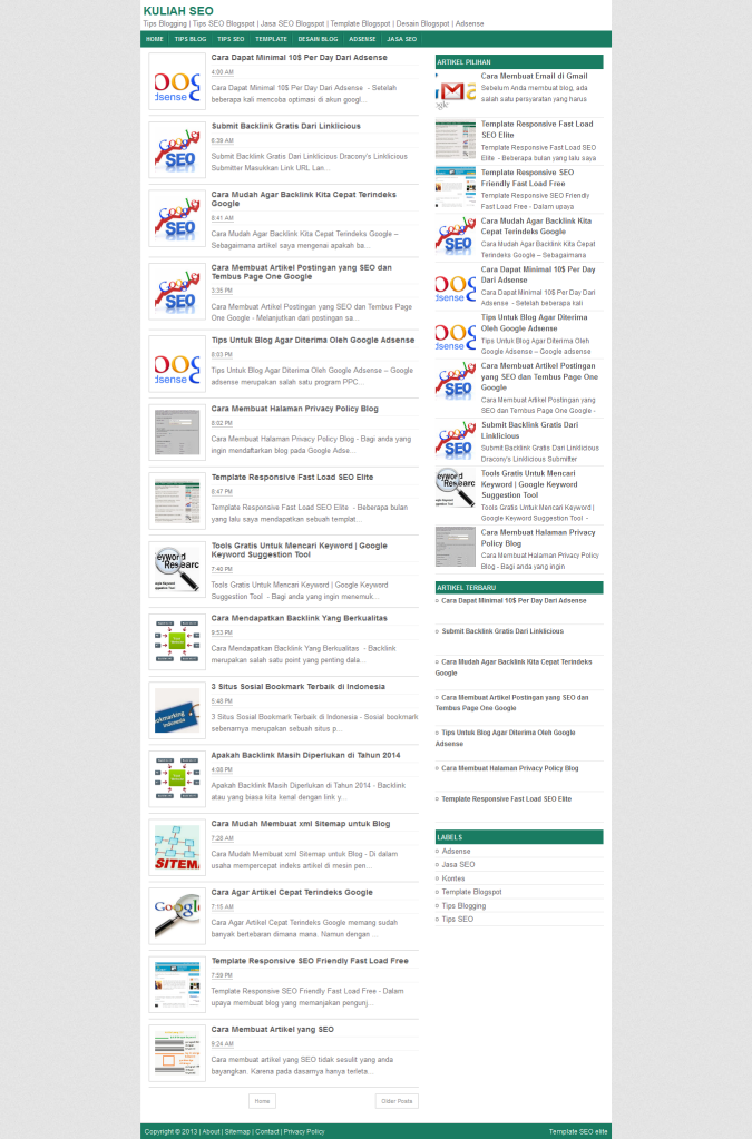 Fast Load Html Templates Fast Load SEO Elite Responsive Blogger Template | Nulled Clone Script