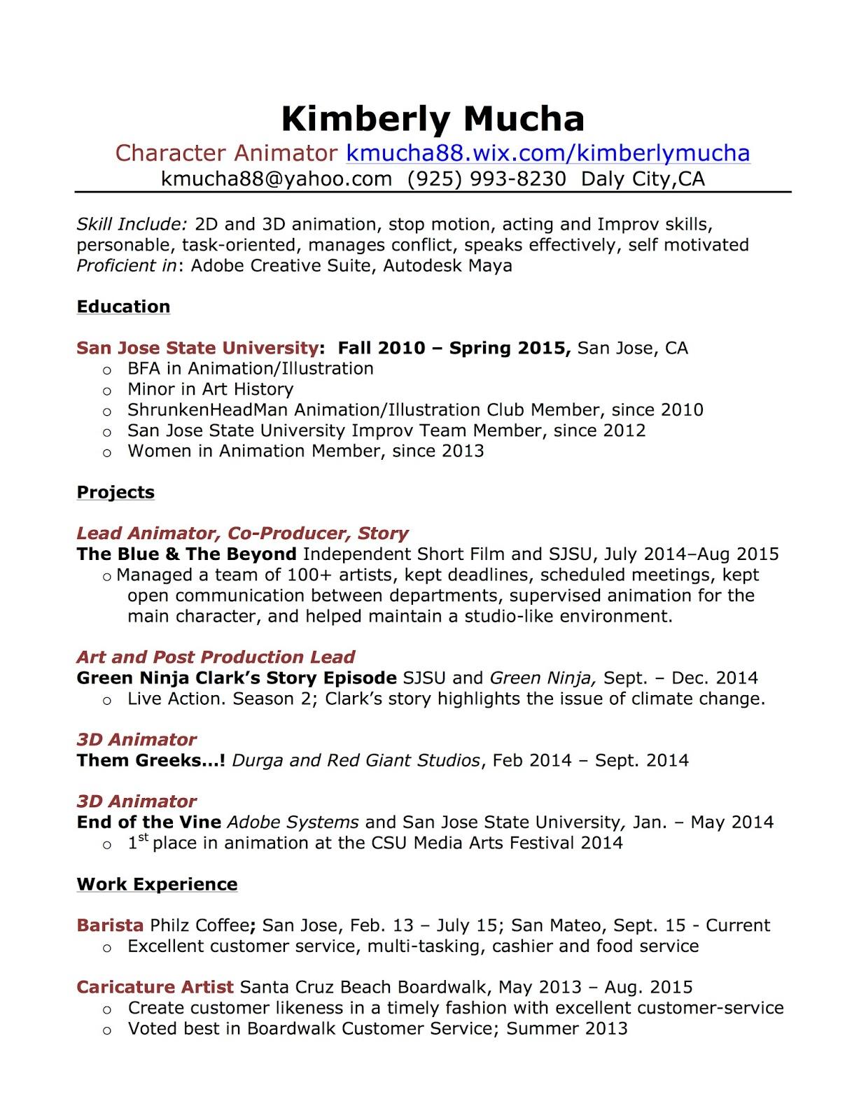 Kimberly Mucha - Resume