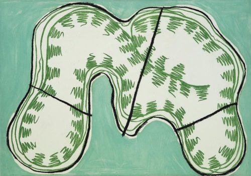 Luis Gordillo Serigrafía Composición