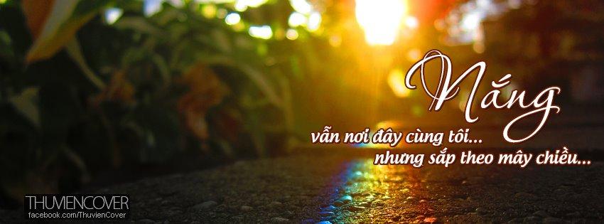 Ảnh Bìa Facebook: Những Giọt Nắng Vàng Cực Đẹp - Cover Facebook
