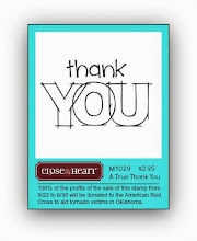 Thank You Stamp 100% of the sale is getting donated for Oklahoma disaster aid through the Red Cross
