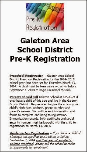 Galeton School District Registration