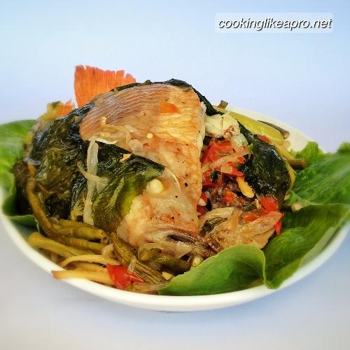 Cooking Sinanglay (Tilapia Recipe)