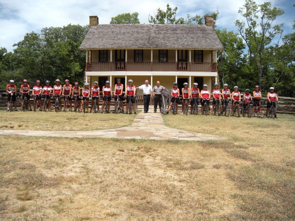 Bike Riders Visit Pea Ridge Military Park