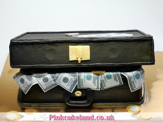 Suitcase of Money Birthday Cake in London