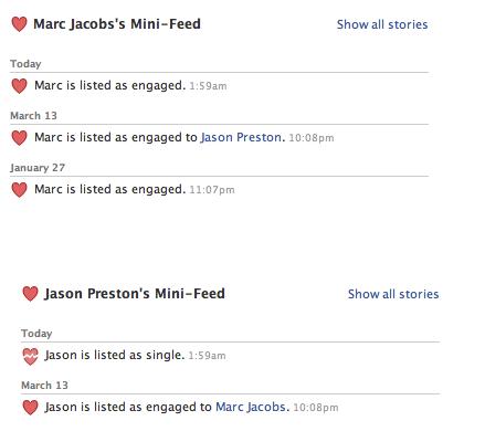 Status up on Facebook